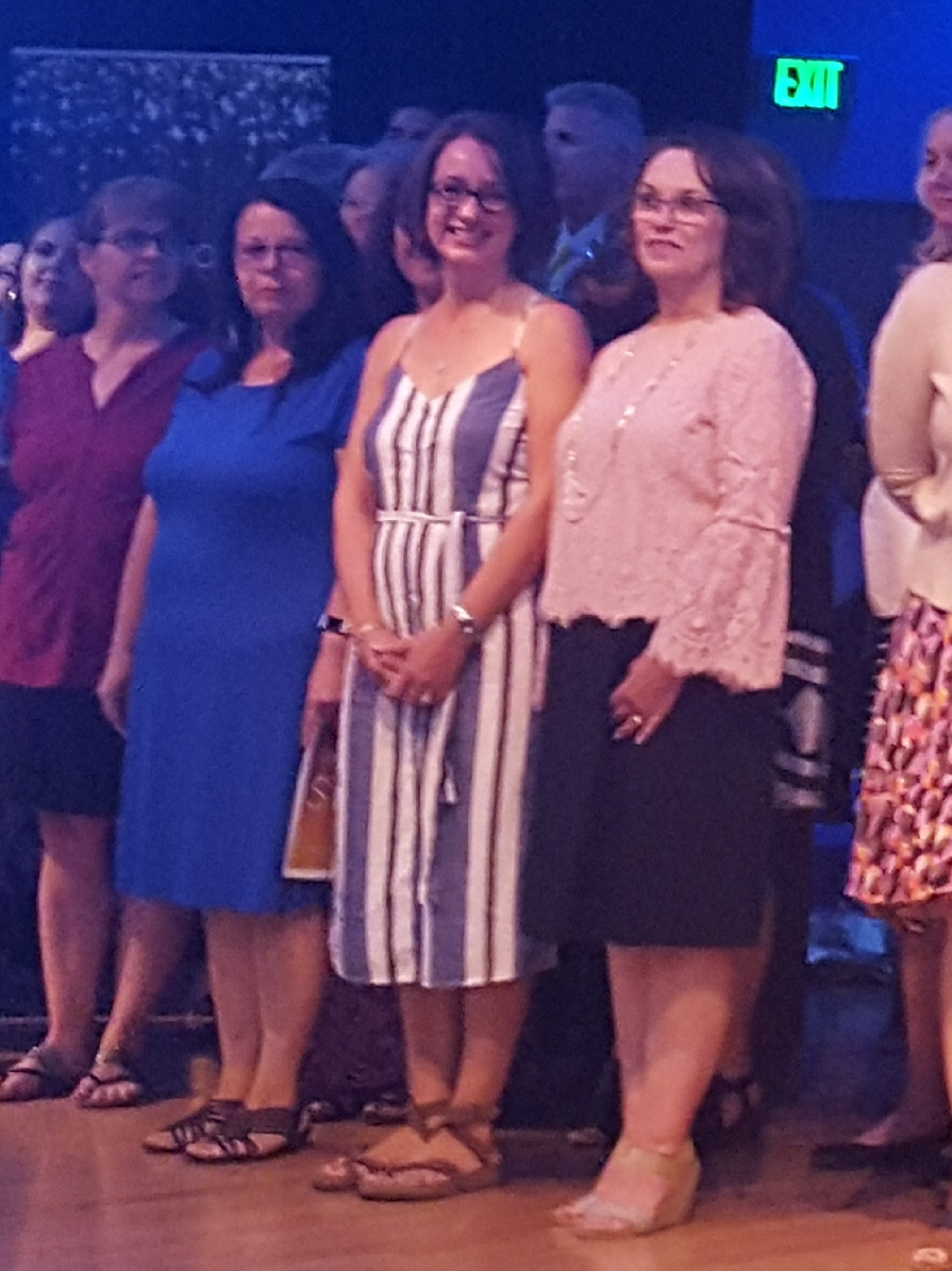 Mrs Espinosa and Others At The 2018 Campus Teach of the Year Event